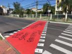 Cpers confirma que vai pagar pintura de ciclovia pichada durante protesto em Porto Alegre Felipe Daroit/Rádio Gaúcha