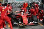 """Sebastian Vettel: """"Os tempos de hoje não significam nada"""" SAEED KHAN/AFP"""