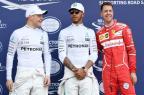 Hamilton voa e garante a primeira pole position da temporada 2017 WILLIAM WEST / AFP/AFP