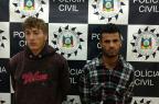 Suspeitos de roubo a bancos no Noroeste do estado são presos em Vacaria Polícia Civil / Divulgação/Divulgação