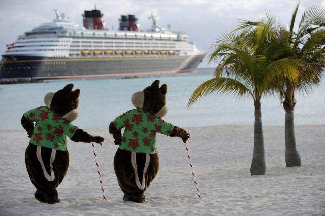 Cruzeiro da Disney leva turistas a uma ilha privativa nas Bahamas Kent Phillips/Divulgação