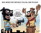 Gilmar Fraga: reforço policial Gilmar Fraga/Agencia RBS