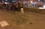 Protesto contra o reajuste da tarifa de ônibus acaba em confusão em Porto Alegre Marina Pagno/Rádio Gaúcha
