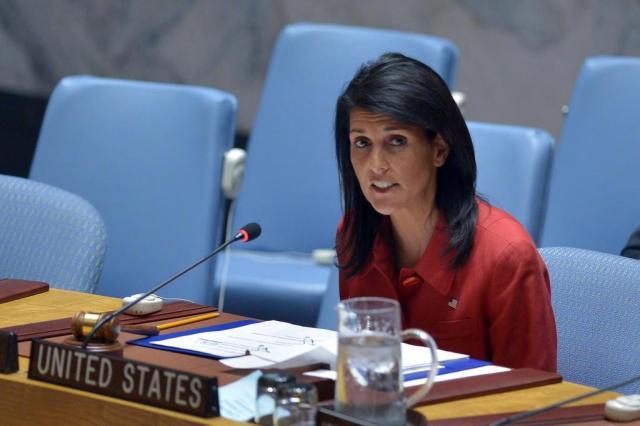"""Venezuela está """"à beira da crise humanitária"""", diz embaixadora dos EUA nas Nações Unidas Jewel SAMAD/AFP"""