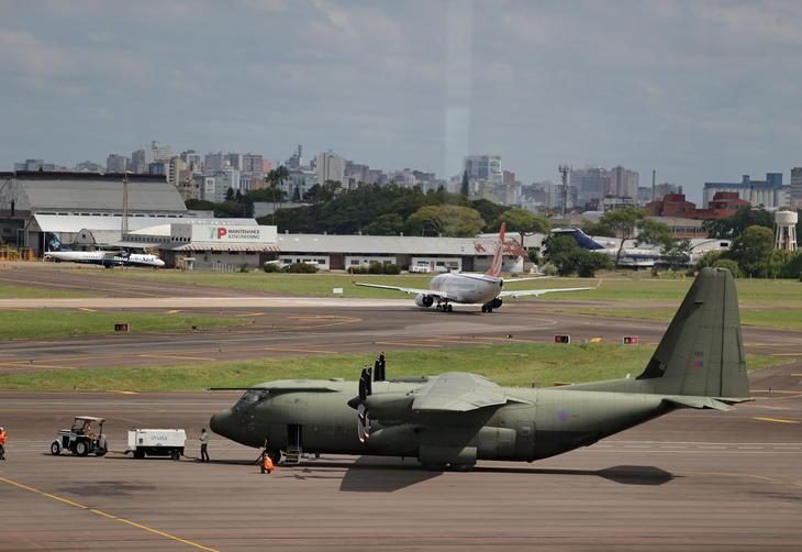 Brazil says the RAF Falklands-outbound flight last Saturday was on a