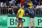 Bellucci ganha no quinto set e põe o Brasil em vantagem diante do Equador Divulgação / Federação Equatoriana de Tênis/Federação Equatoriana de Tênis
