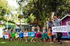 Crianças fazem trenzinho com palavras positivas e vídeo viraliza Anderson Fetter/Agencia RBS