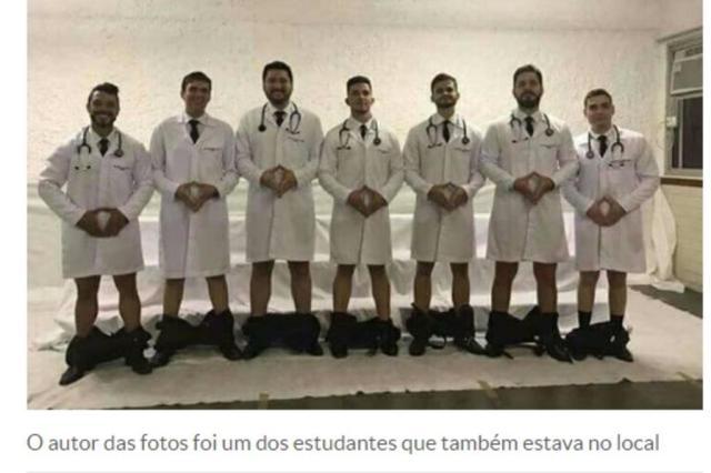 Estudantes de Medicina do Espírito Santo baixam as calças em foto ofensiva às mulheres Reprodução/Reprodução