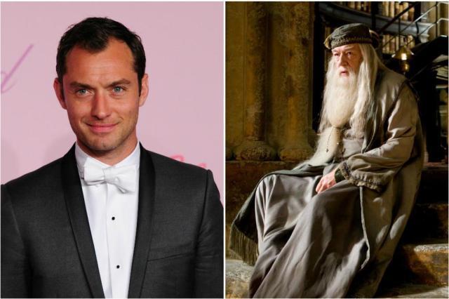"""Jude Law viverá Dumbledore jovem em sequência de """"Animais Fantásticos e Onde Habitam"""" Montagem/AFP/Warner"""