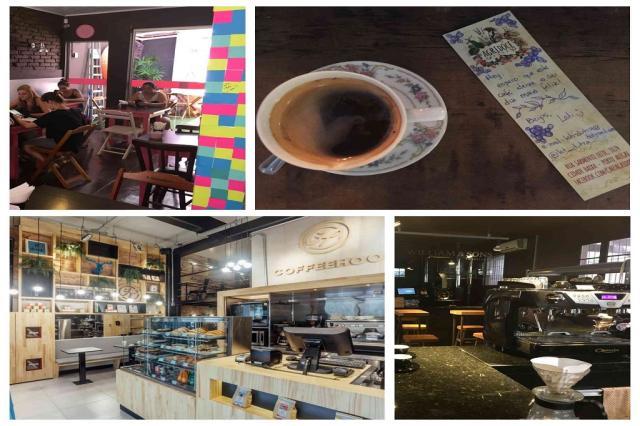Conheça oito cafeterias que oferecem espaço para trabalho e estudo em Porto Alegre Montagem sobre fotos de Lara Ely (especial), divulgação e Andréa Graiz/