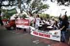 Em protesto, alunos da Uergs pedem liberação de prédio da CEEE para ter aulas Félix Zucco/Agencia RBS