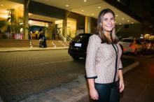 Isabelle Isdra recepciona convidados em camaroteexclusivo no Beira-Rio Andréa Graiz/Agencia RBS