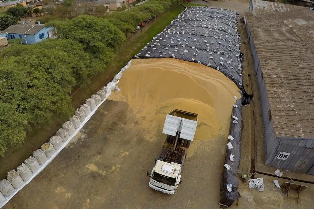 Supersafra de soja expõe deficiência de armazenagem no RS Fernando Gomes/Agencia RBS
