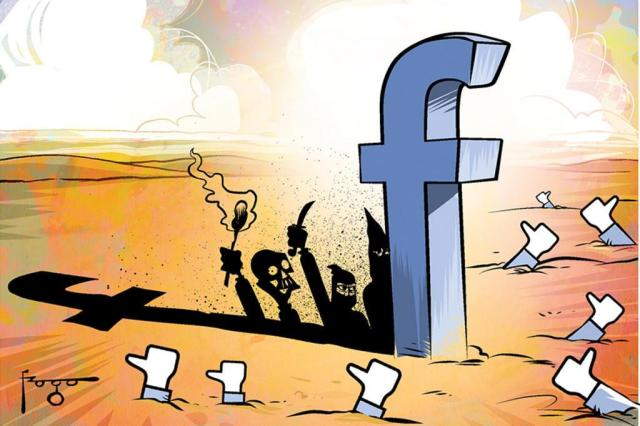 Jornal inglês expõe tolerância do Facebook a conteúdos ofensivos Gilmar Fraga/Arte ZH