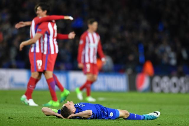 Leicester empata com Atlético de Madrid e está eliminado da Liga dos Campeões Ben STANSALL / AFP/AFP