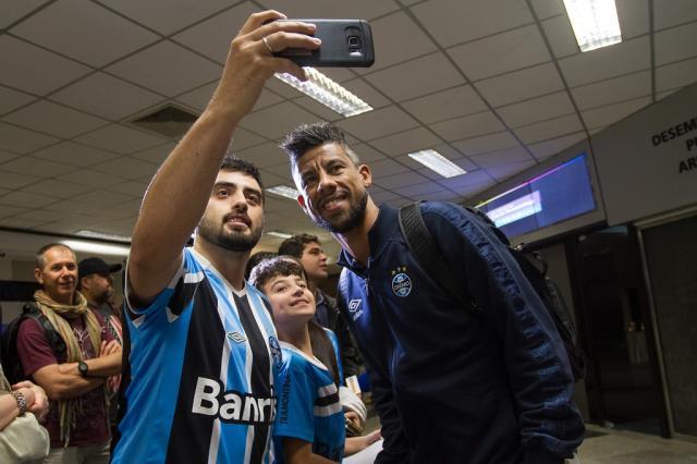 Grêmio chega ao Paraguai para encarar o Guaraní e encontra o Galo em hotel Lucas Uebel / Grêmio FBPA/Grêmio FBPA