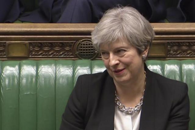 Parlamento britânico aprova antecipação das eleições para junho AFP PHOTO/PRU