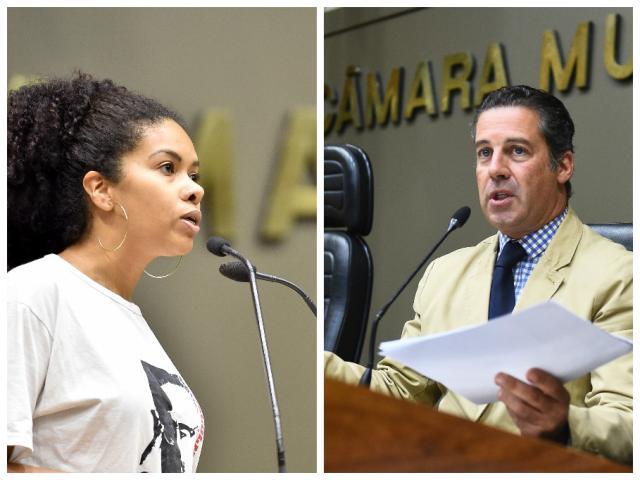 Roupa de vereadora vira bate-boca em sessão da Câmara da Capital Montagem sobre fotos de Elson Sempé Pedroso e Ederson Nunes (CMPA/Divulgação)/