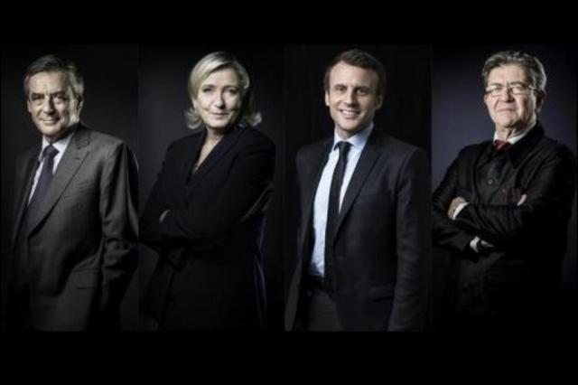 A três dias das eleições, candidatos à presidência da França concedem entrevista à TV nesta quinta Montagem/AFP