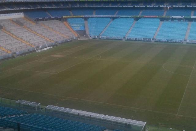 Gramado da Arena do Grêmio passa por replantio para o inverno Divulgação/
