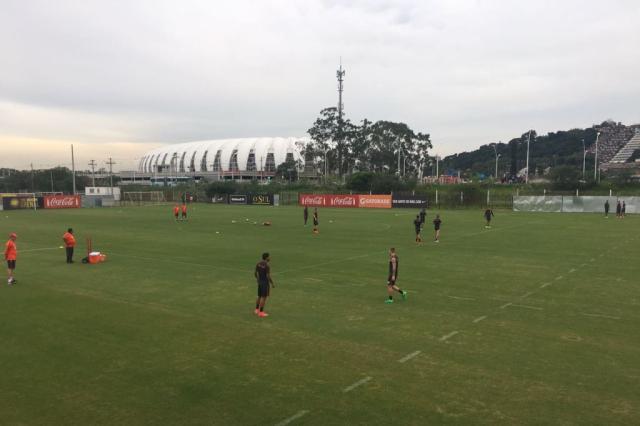 Edenilson faz apenas trabalhos físicos e segue como dúvida para jogo contra o Caxias Rodrigo Oliveira / Agência RBS/Agência RBS