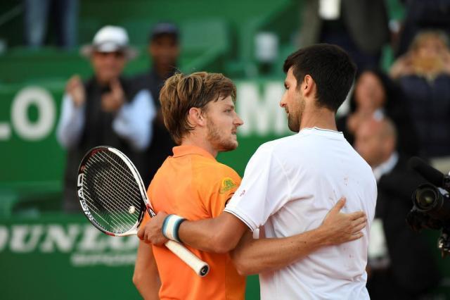 Djokovic é eliminado por Goffin nas quartas de Monte Carlo Yann COATSALIOU/AFP