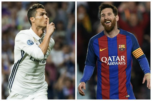 Real Madrid e Barcelona fazem clássico decisivo, neste domingo, noSantiago Bernabéu Montagem sobre fotos / Christof Stache e LLUIS GENE/AFP/Christof Stache e LLUIS GENE/AFP