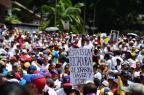 Oposição faz marcha em silêncio após distúrbios na Venezuela RONALDO SCHEMIDT/AFP