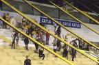 Torcedores do Criciúma ironizam acidente da Chapecoense durante jogo no Catarinense Reprodução/