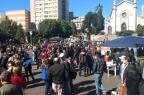 Ato contra reformas em Caxias do Sul termina na Rua Sinimbu Kamila Mendes / Agência RBS/Agência RBS