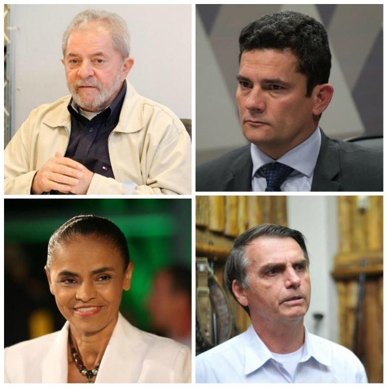 Datafolha aponta Lula empatado com Marina e Moro em eventual segundo turno; Bolsonaro sobe