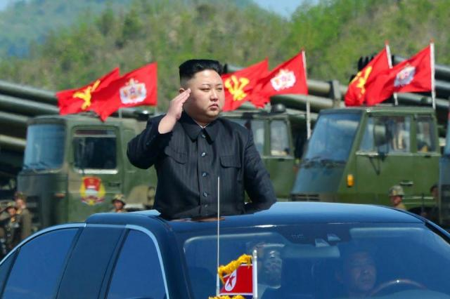 Coreia do Norte dispara projétil do noroeste do país; EUA confirmam AFP PHOTO/KCNA VIA KNS
