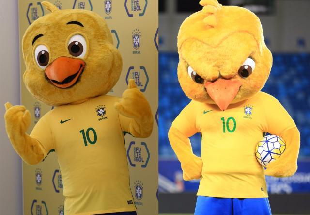 """Mascote da Seleção """"troca de rosto"""" e vira memes nas redes sociais Twitter / Reprodução/Twitter / Reprodução"""