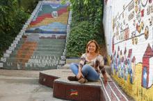 Escadaria abandonada que moradora revitalizou ganha palco e festa com shows neste sábado Robinson Estrásulas/Agencia RBS