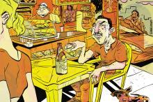 Na mesa de plástico do bar-lancheria Gabriel Renner / Arte ZH/Arte ZH