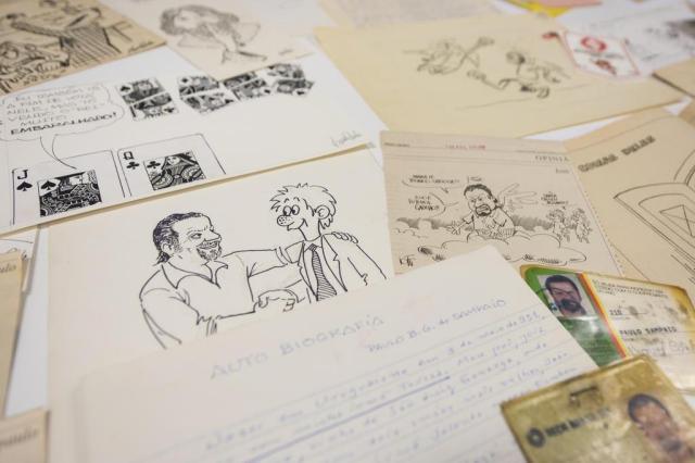 Acervo do cartunista SamPaulo será doado para a PUCRS nesta segunda Instituto Delfos/PUC/Divulgação