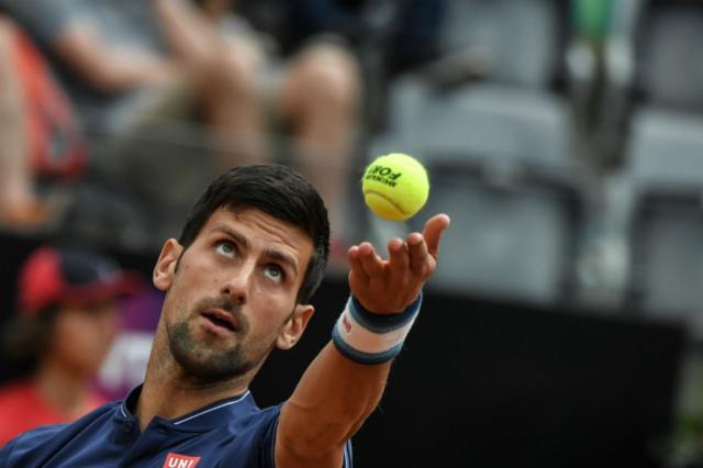 Djokovic embala no segundo set e vai às oitavas em Roma ANDREAS SOLARO / AFP/AFP