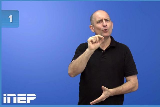 Inep divulga exemplo de prova em vídeo traduzida em Libras Reprodução/Inep