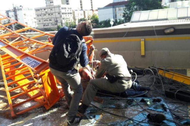 Operário morre em queda de andaime em Porto Alegre Cláudio Fanaya/Arquivo Pessoal