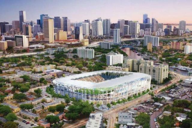 Time de Beckham divulga planos para construção de estádio Miami Beckham United / Divulgação/Divulgação