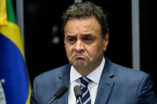 Aécio Neves anuncia licença da presidência do PSDB ANDRESSA ANHOLETE/AFP
