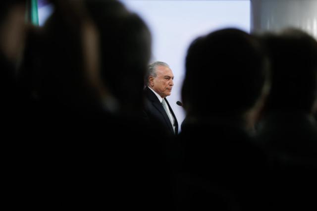 """New York Times trata crise brasileira e diz que Temer é """"acusado de subornar"""" Beto Barata/PR"""