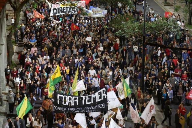 Cidades brasileiras registram protestos contra o governo Temer And ré Feltes/Especial