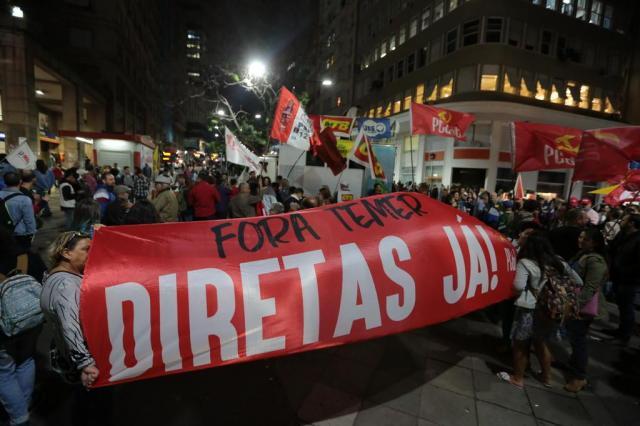 Porto Alegre tem protesto contra Temer pelo segundo dia seguido André Ávila/Agencia RBS