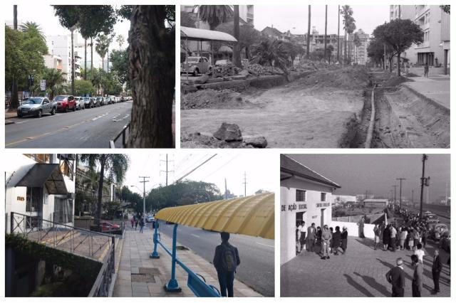 Em 50 anos, veja o que mudou em cinco avenidas de Porto Alegre Montagem sobre fotos de André ¿?vila, Rubens (BD) e Luchini (BD)/