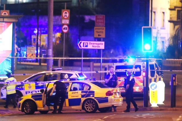 Explosão deixa ao menos 22 mortos na Inglaterra após show de Ariana Grande PAUL ELLIS,AFP/AFP