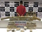 Traficante é preso com mala de maconha em Porto Alegre Polícia Civil/Divulgação