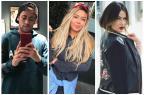 Irmã de Neymar ironiza modelo que divulgou mensagem com elogio do jogador Montagem sobre fotos de Instagram/Divulgação/