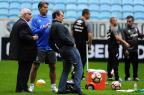 Ausência de Arthur e visita de empresário marcam treino do Grêmio na Arena Lauro Alves/Agencia RBS