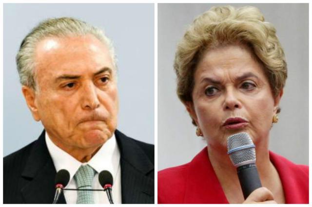 Pedido de impeachment: por que a situação de Temer é diferente da de Dilma Montagem com fotos de arquivo/